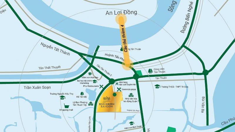 Vị trí dự án Eco Green Saigon
