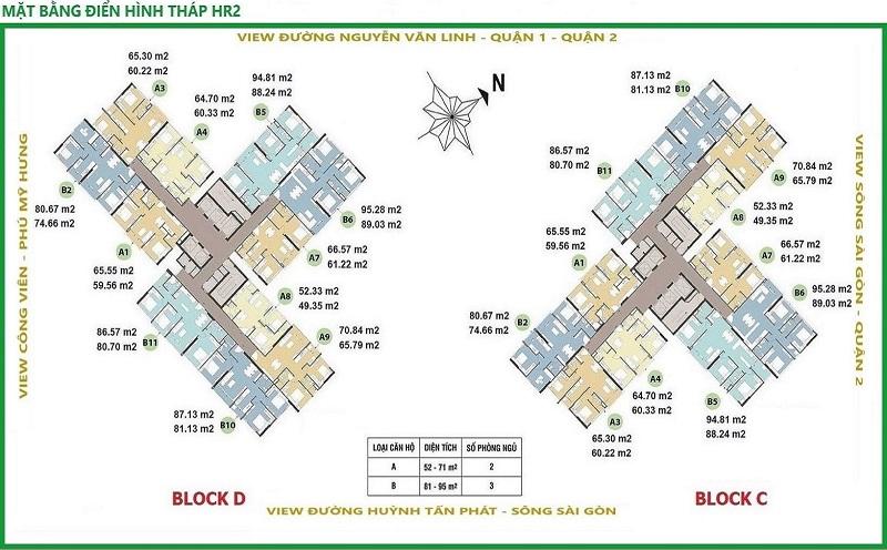 Mặt bằng điển hình tháp HR2