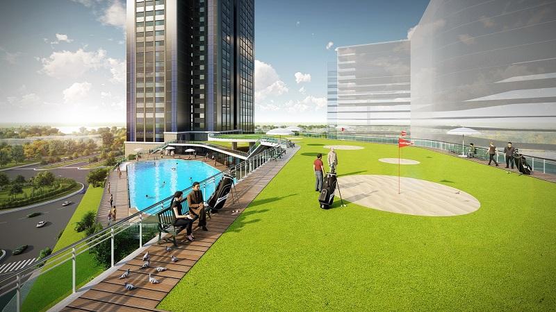 Sân Golf dự án căn hộ Eco Green