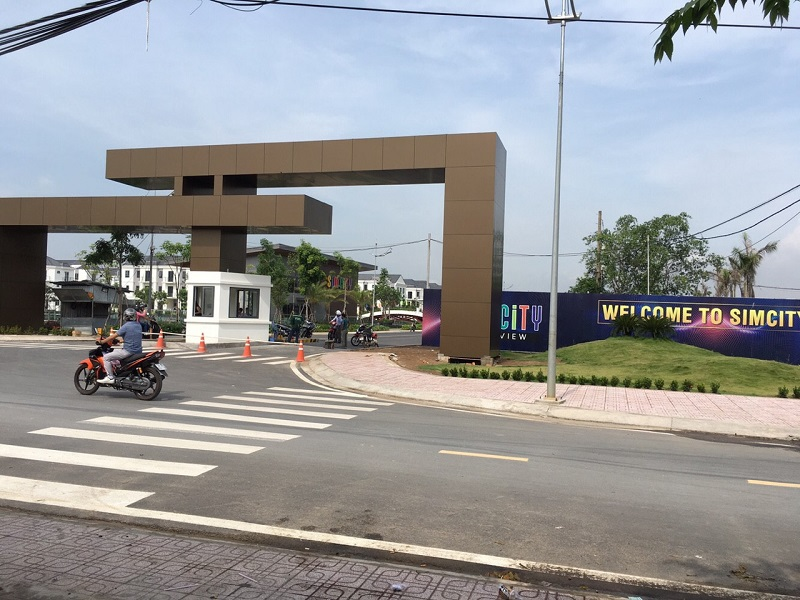 Cổng vào khu đô thị Sim City