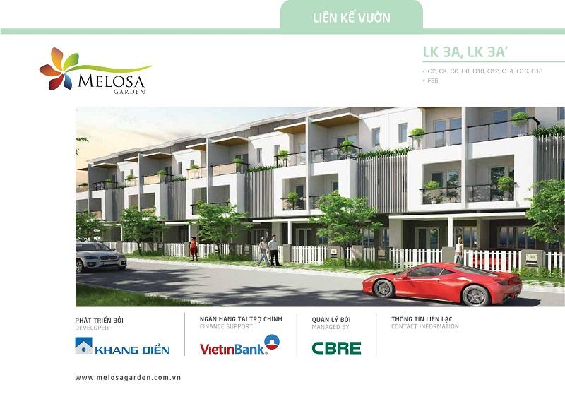 bán nhà dãy D Melosa Garden