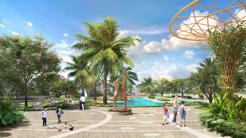 Mảng xanh dự án Verosa Park