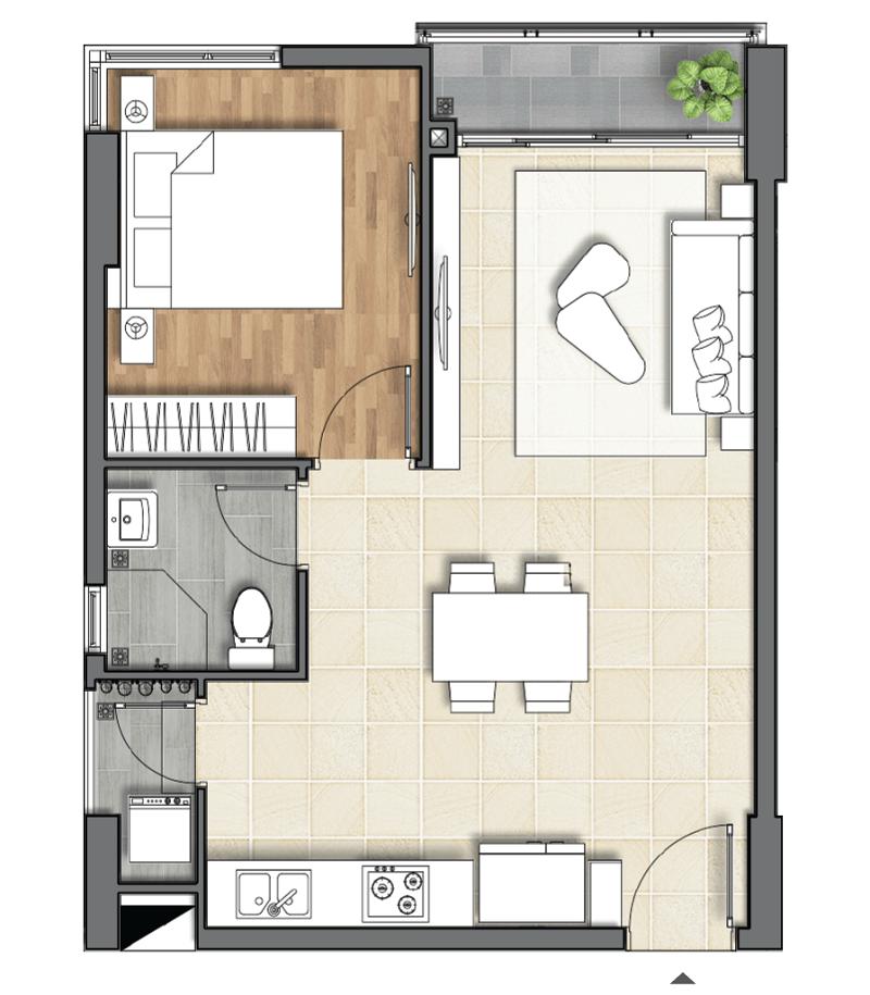 Thiết kế căn hộ Dlusso